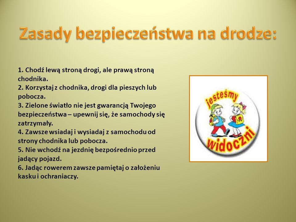 Zasady bezpieczeństwa na drodze: