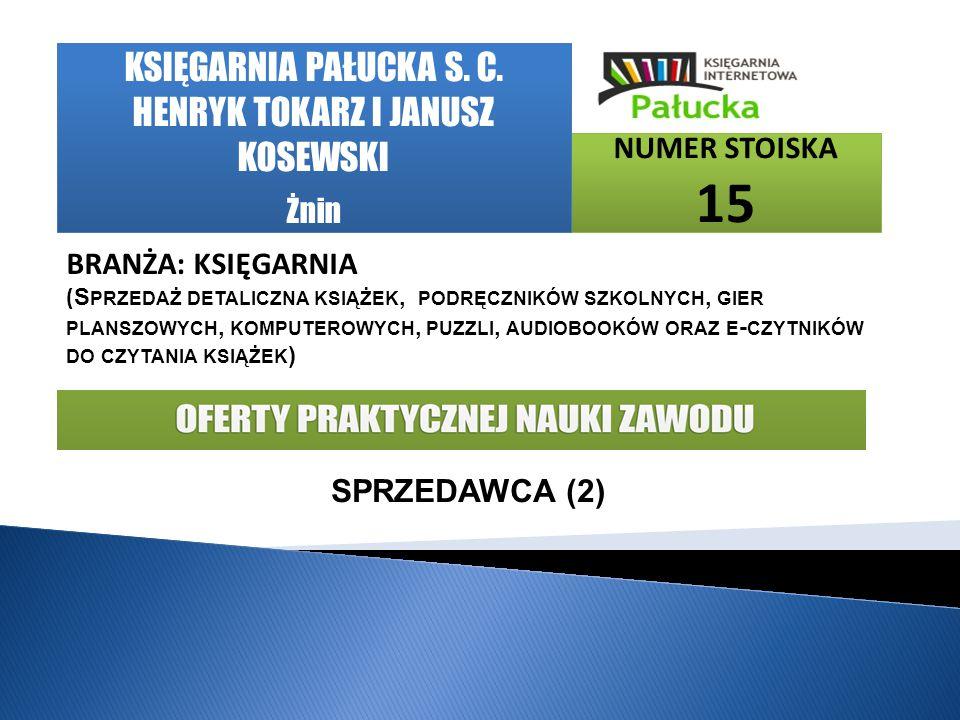 KSIĘGARNIA PAŁUCKA S. C. HENRYK TOKARZ I JANUSZ KOSEWSKI