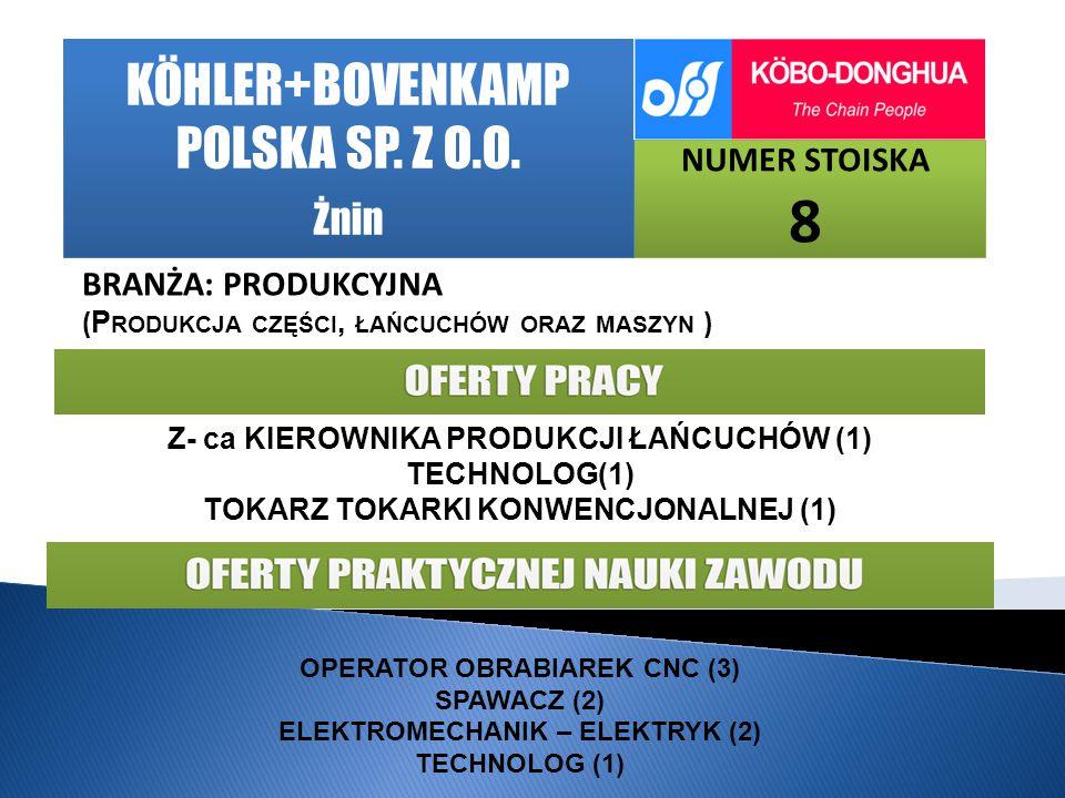 KÖHLER+BOVENKAMP POLSKA SP. Z O.O.