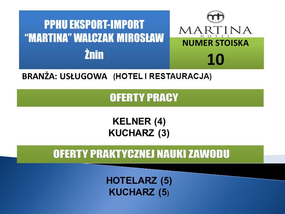 PPHU EKSPORT-IMPORT MARTINA WALCZAK MIROSŁAW