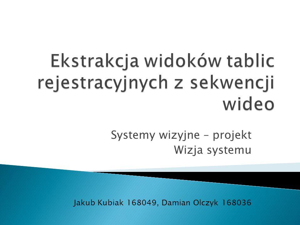 Ekstrakcja widoków tablic rejestracyjnych z sekwencji wideo