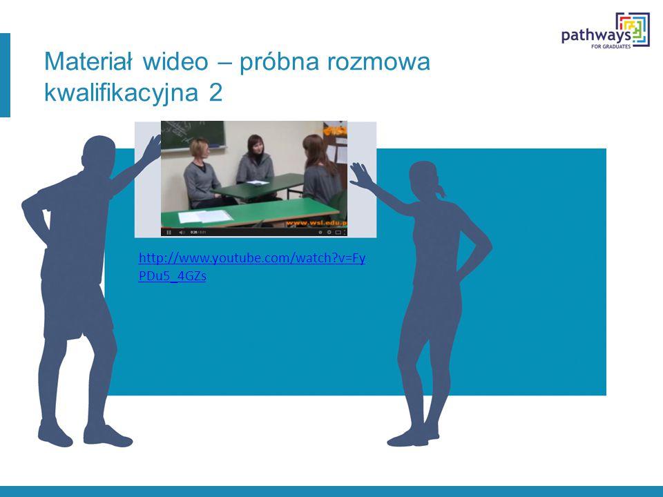 Materiał wideo – próbna rozmowa kwalifikacyjna 2