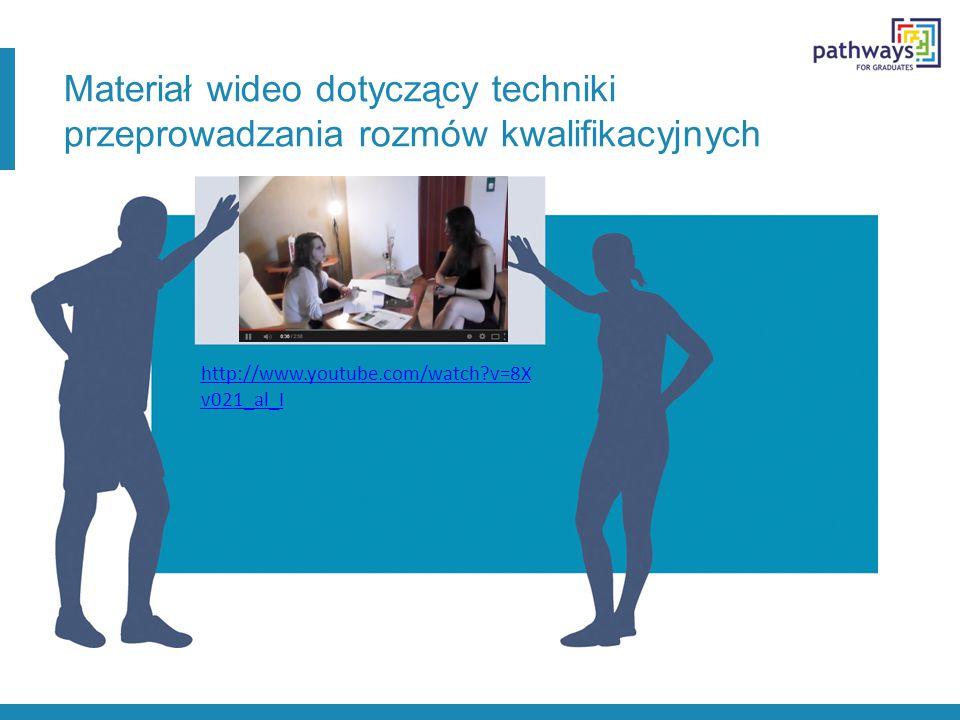 Materiał wideo dotyczący techniki przeprowadzania rozmów kwalifikacyjnych