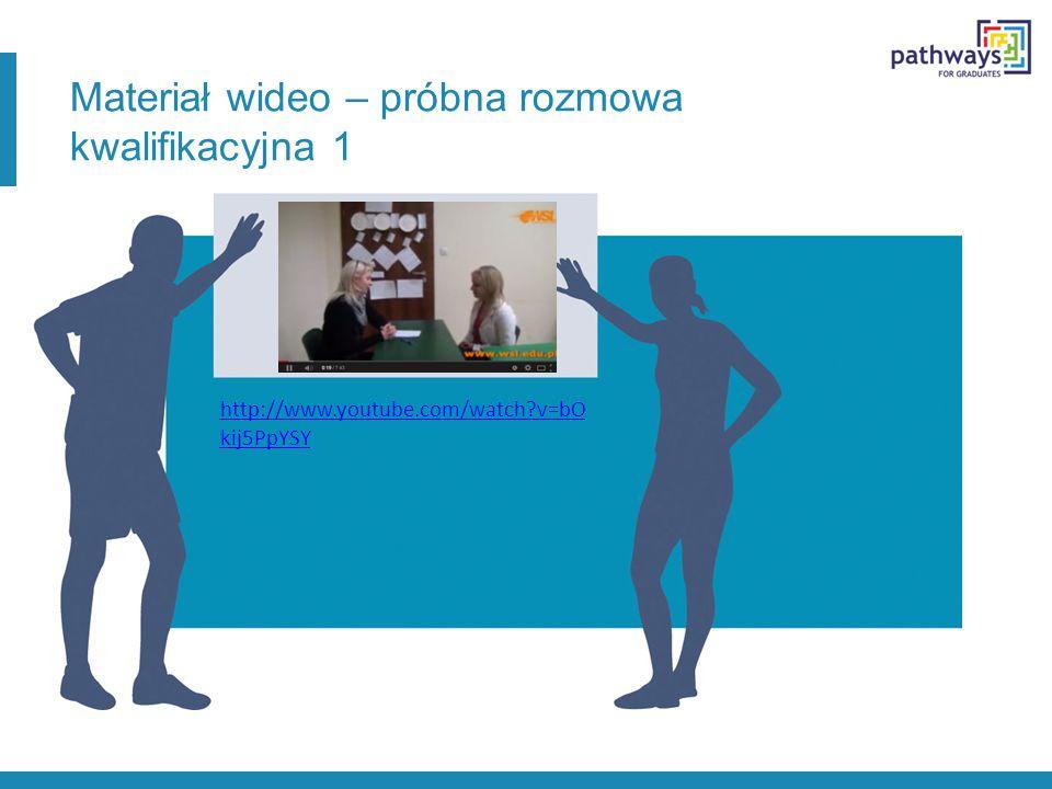 Materiał wideo – próbna rozmowa kwalifikacyjna 1