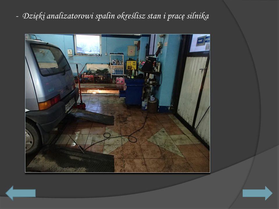 - Dzięki analizatorowi spalin określisz stan i pracę silnika