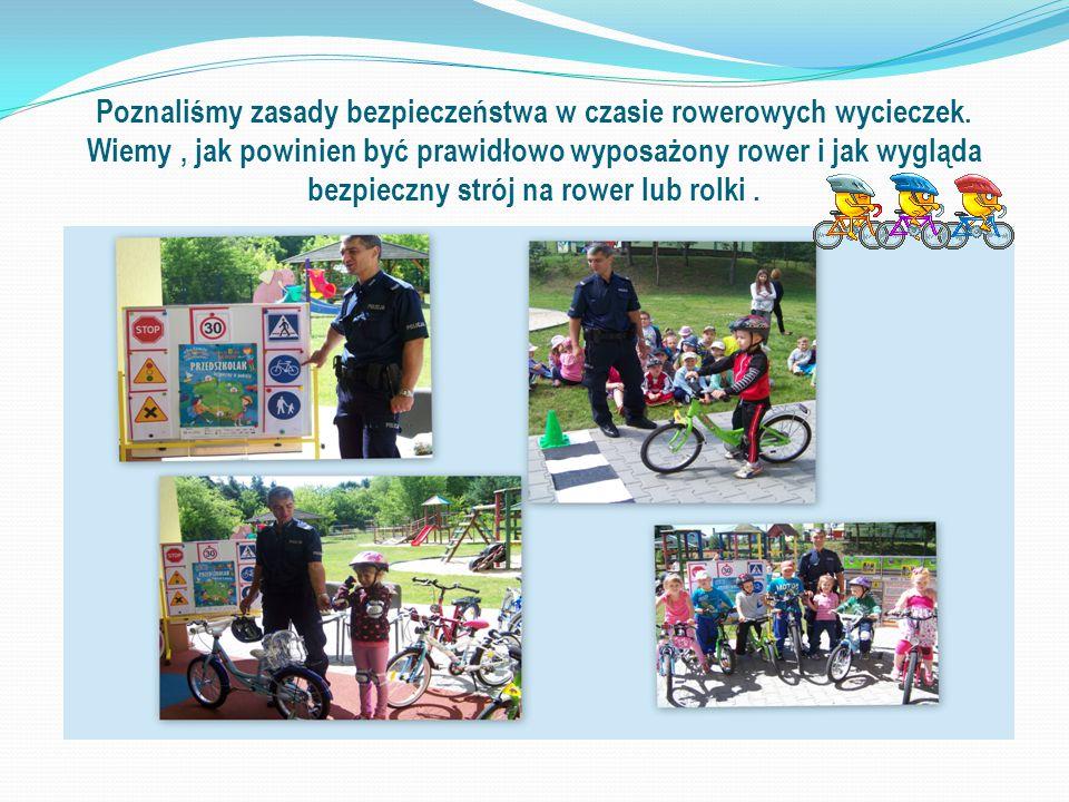 Poznaliśmy zasady bezpieczeństwa w czasie rowerowych wycieczek