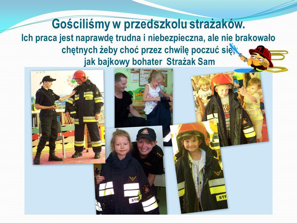 Gościliśmy w przedszkolu strażaków