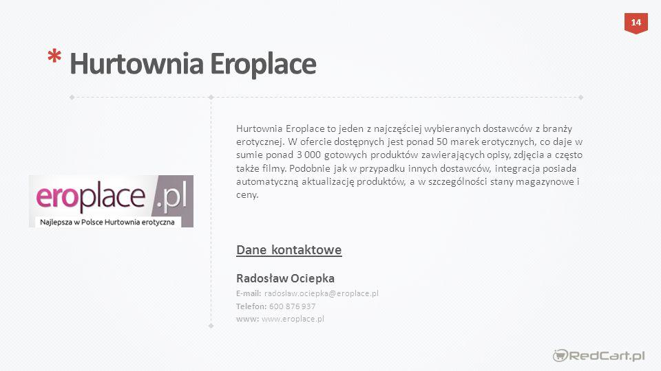 * Hurtownia Eroplace Dane kontaktowe Radosław Ociepka