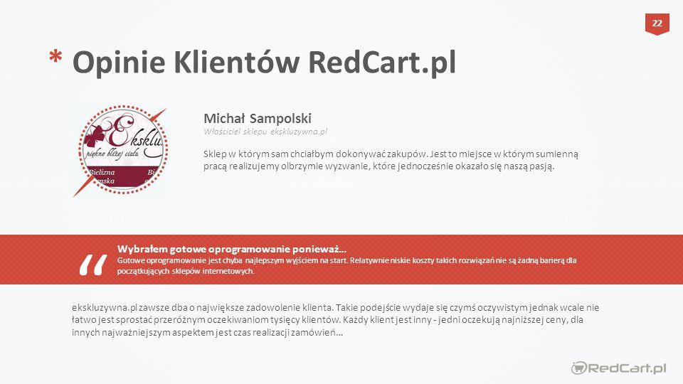 * Opinie Klientów RedCart.pl Michał Sampolski