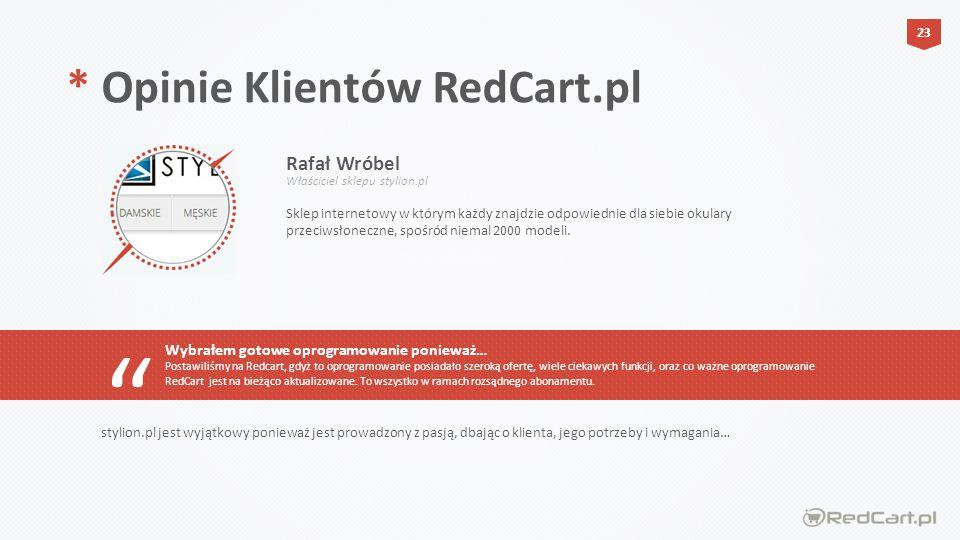 * Opinie Klientów RedCart.pl Rafał Wróbel