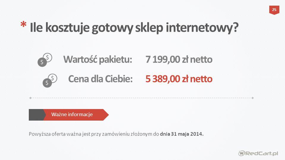 * Ile kosztuje gotowy sklep internetowy