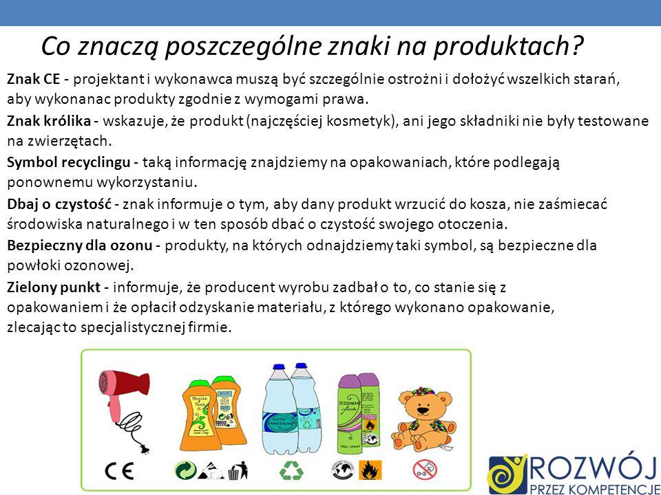 Co znaczą poszczególne znaki na produktach