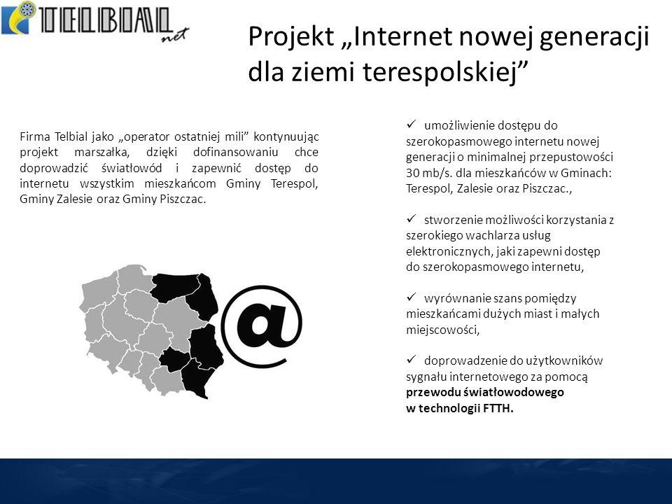 """Projekt """"Internet nowej generacji dla ziemi terespolskiej"""