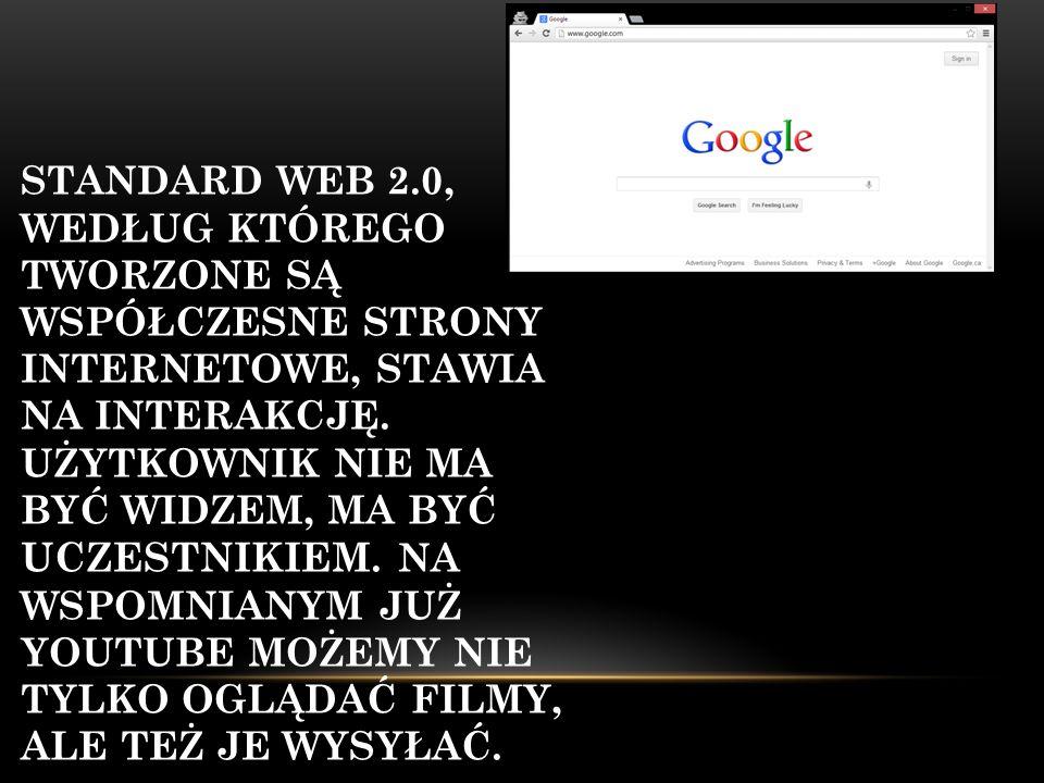 Standard Web 2.0, według którego tworzone są współczesne strony internetowe, stawia na interakcję.