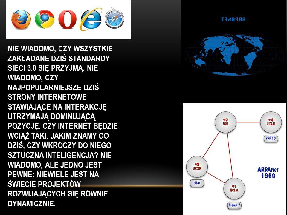 Nie wiadomo, czy wszystkie zakładane dziś standardy sieci 3