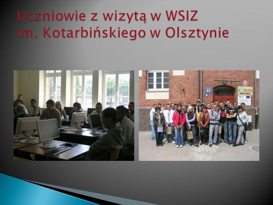 Uczniowie z wizytą w WSIZ im. Kotarbińskiego w Olsztynie