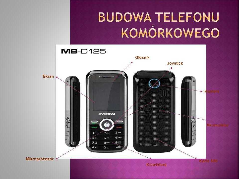 BUDOWA TELEFONU KOMÓRKOWEGO