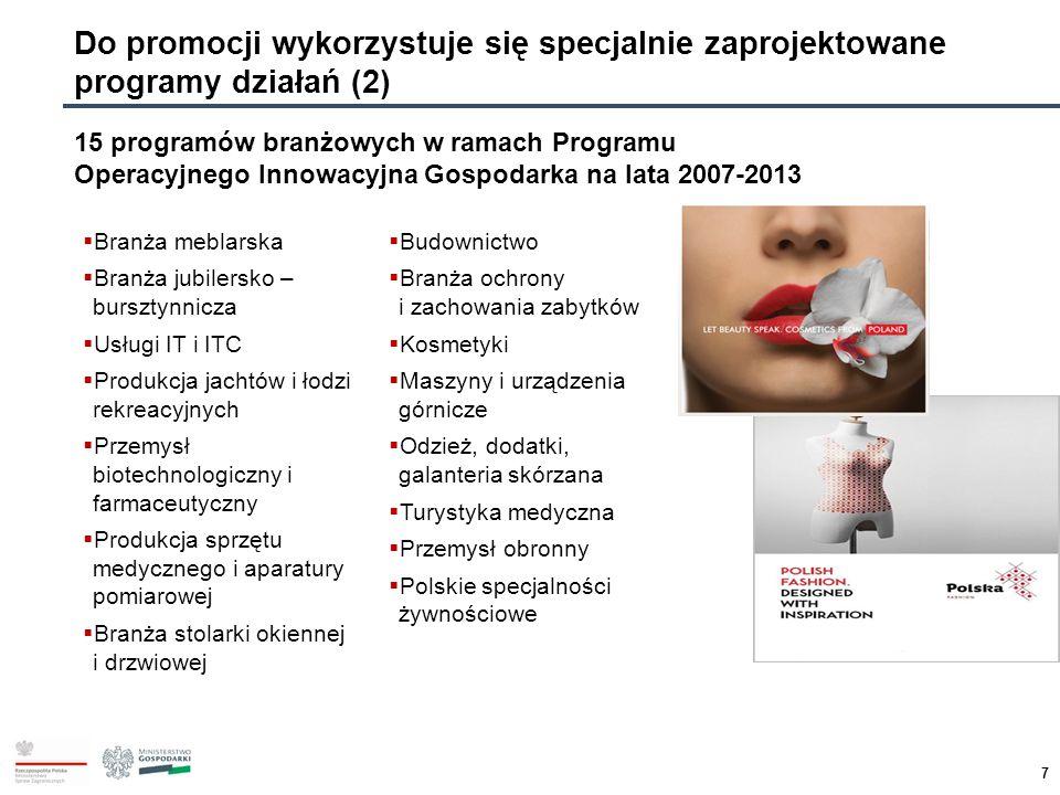 Do promocji wykorzystuje się specjalnie zaprojektowane programy działań (2)