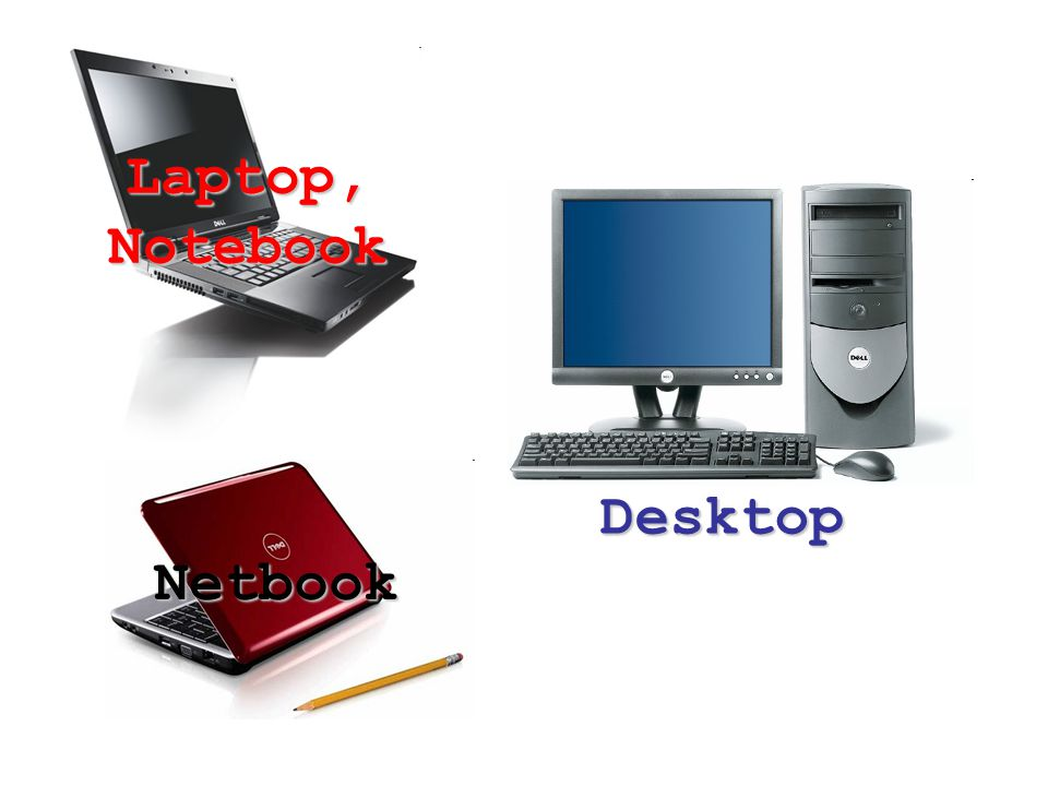 Laptop, Notebook Desktop Netbook