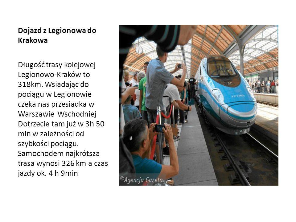 Dojazd z Legionowa do Krakowa
