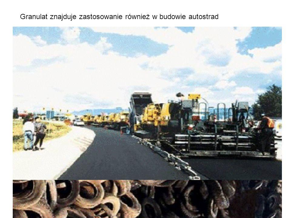 Granulat znajduje zastosowanie również w budowie autostrad