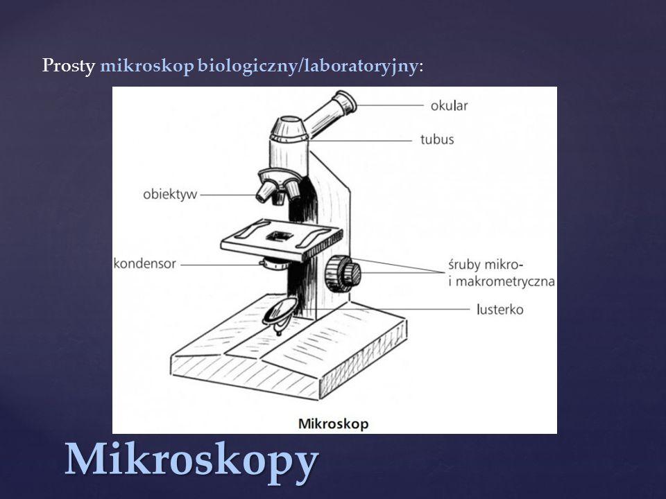 Prosty mikroskop biologiczny/laboratoryjny: