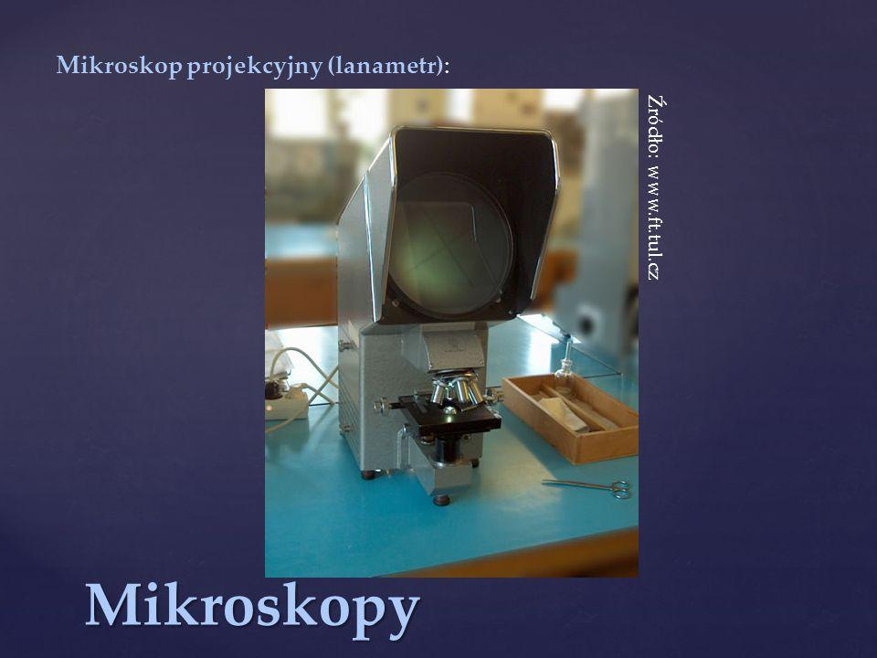 Mikroskop projekcyjny (lanametr):