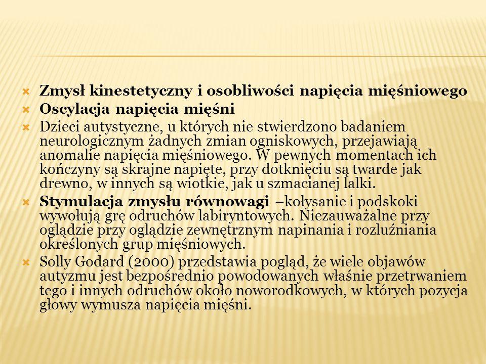 Zmysł kinestetyczny i osobliwości napięcia mięśniowego