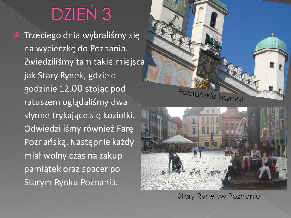 Trzeciego dnia wybraliśmy się na wycieczkę do Poznania