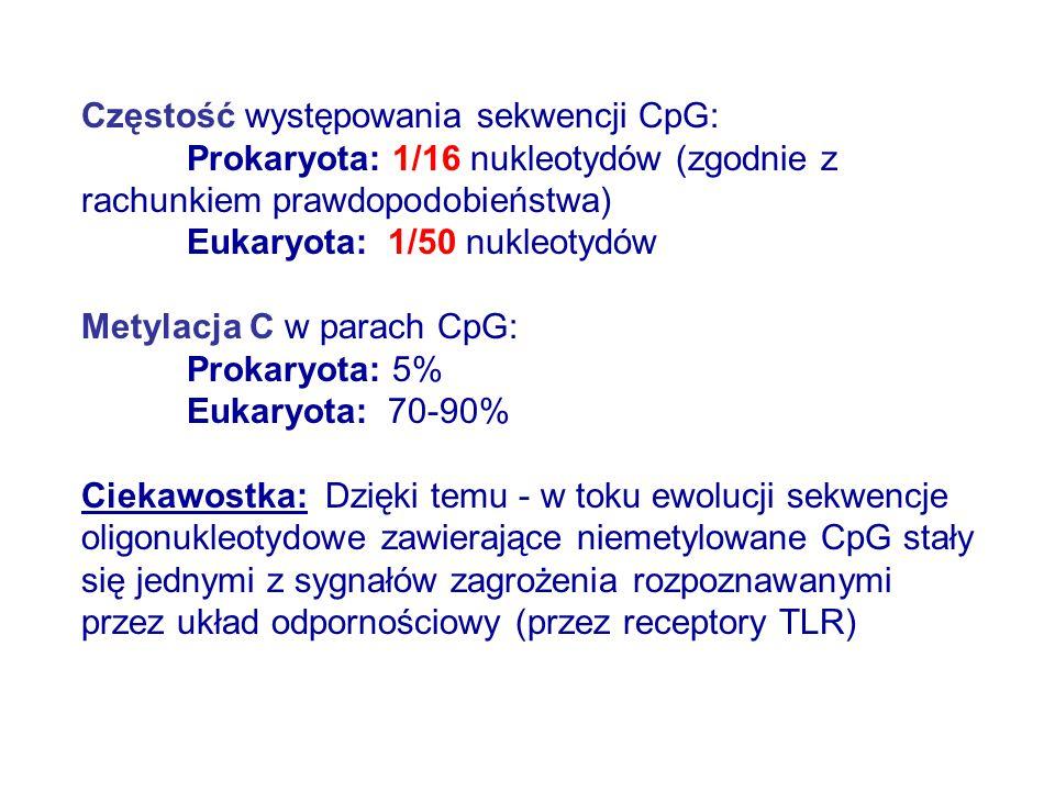 Częstość występowania sekwencji CpG: