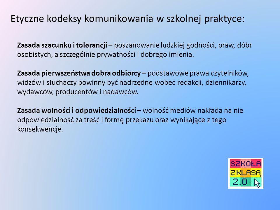 Etyczne kodeksy komunikowania w szkolnej praktyce: