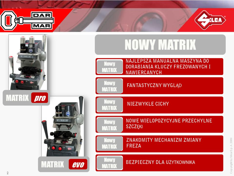 NOWY MATRIX MATRIX pro MATRIX evo Nowy MATRIX Nowy MATRIX Nowy MATRIX