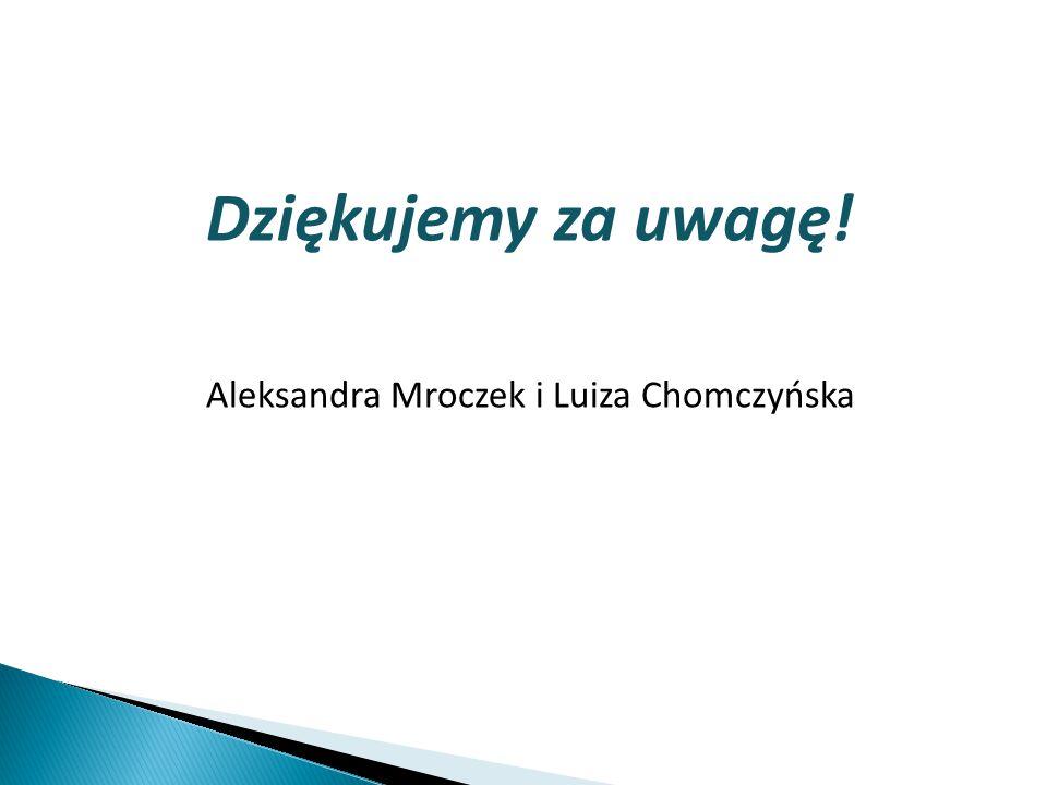Aleksandra Mroczek i Luiza Chomczyńska