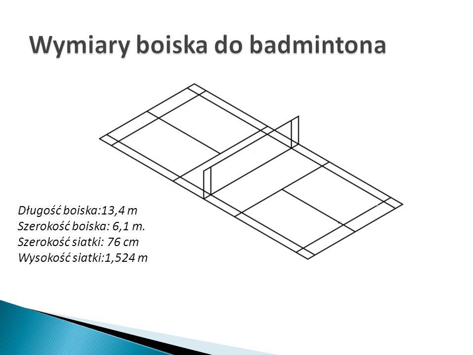 Wymiary boiska do badmintona