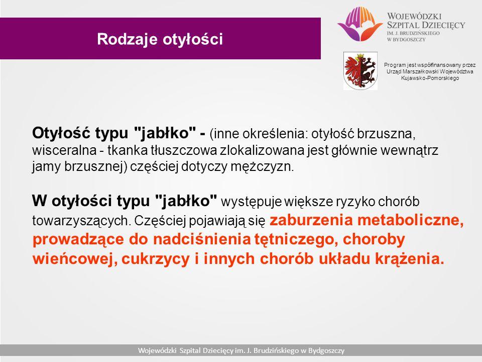 Rodzaje otyłości Program jest współfinansowany przez Urząd Marszałkowski Województwa Kujawsko-Pomorskiego.