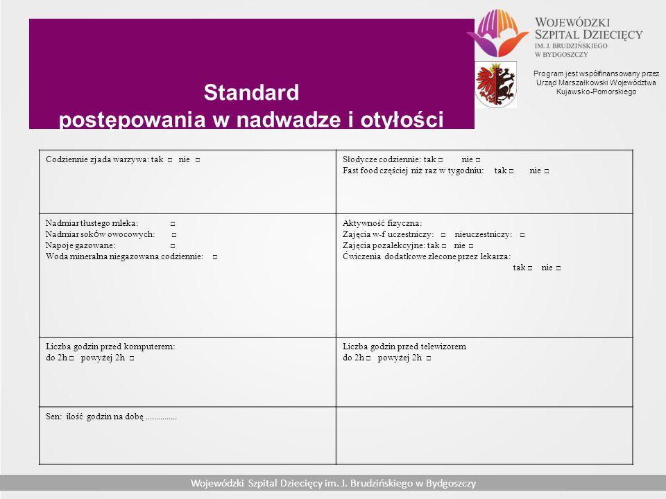 Standard postępowania w nadwadze i otyłości