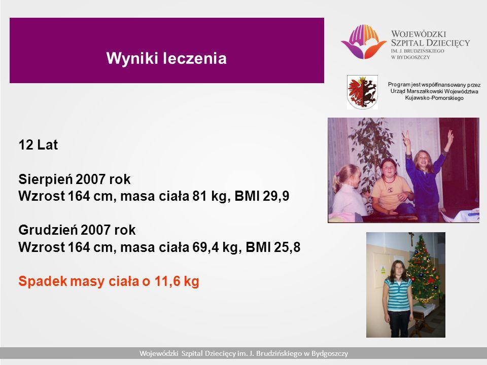 Wyniki leczenia 12 Lat Sierpień 2007 rok