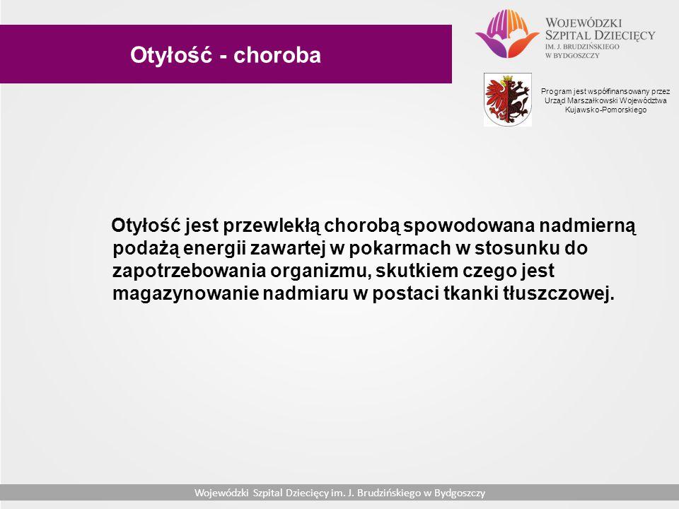 Otyłość - choroba Program jest współfinansowany przez Urząd Marszałkowski Województwa Kujawsko-Pomorskiego.