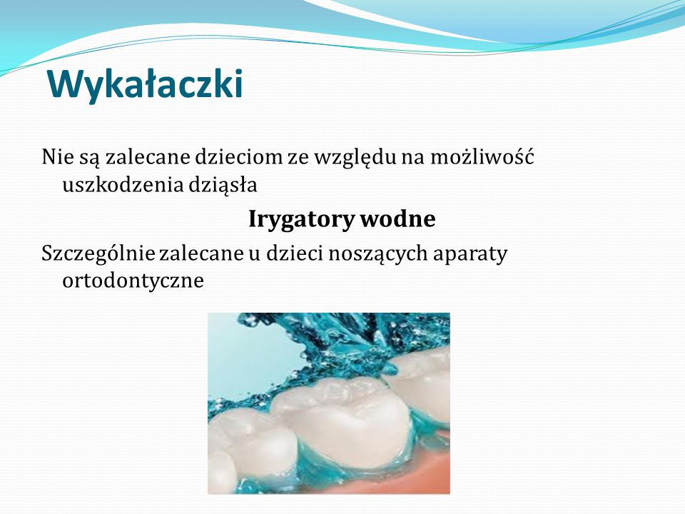 Wykałaczki Irygatory wodne