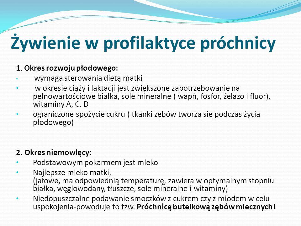 Żywienie w profilaktyce próchnicy