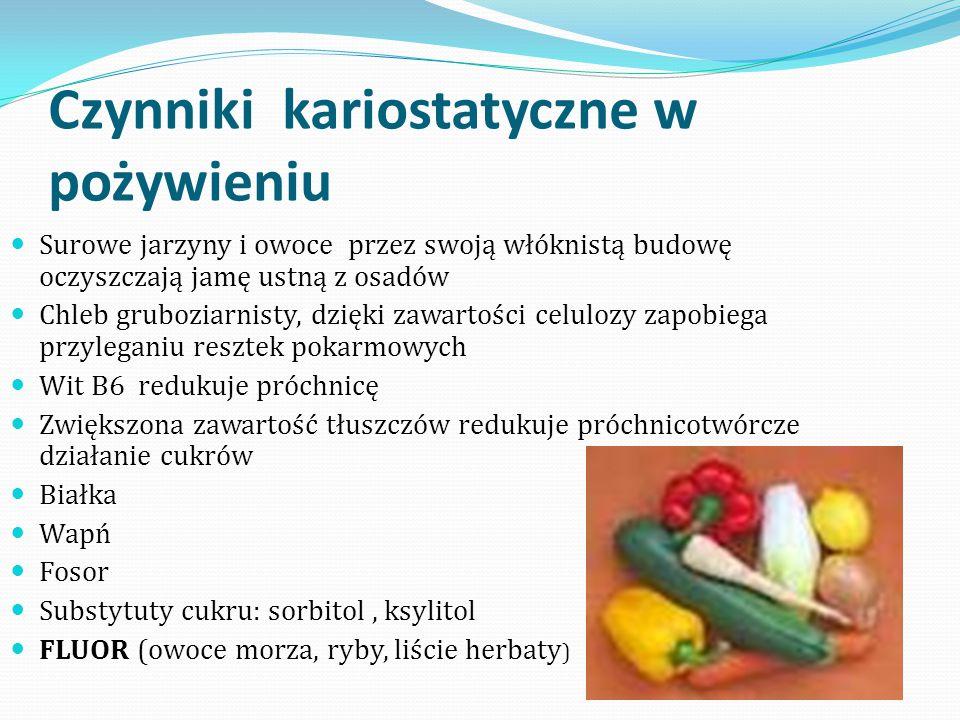 Czynniki kariostatyczne w pożywieniu