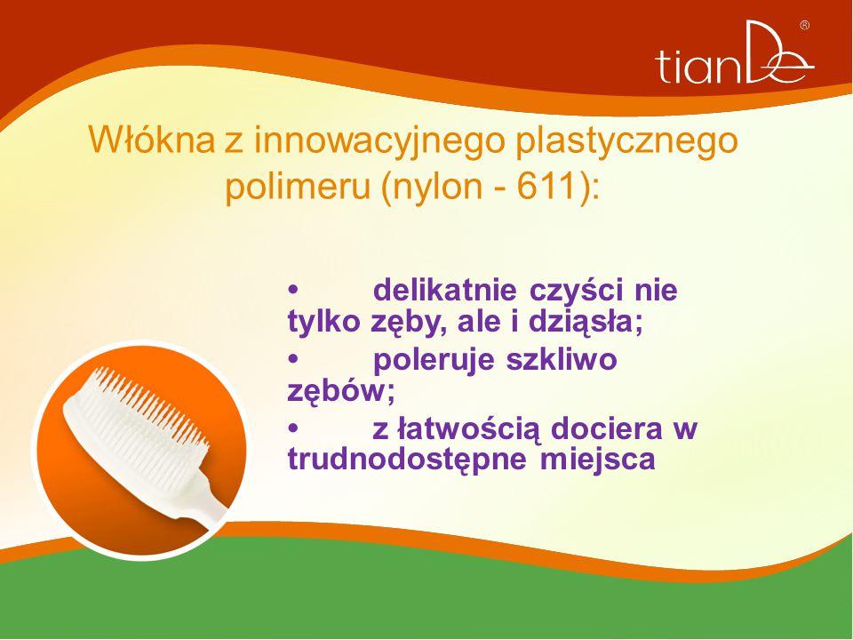 Włókna z innowacyjnego plastycznego polimeru (nylon - 611):