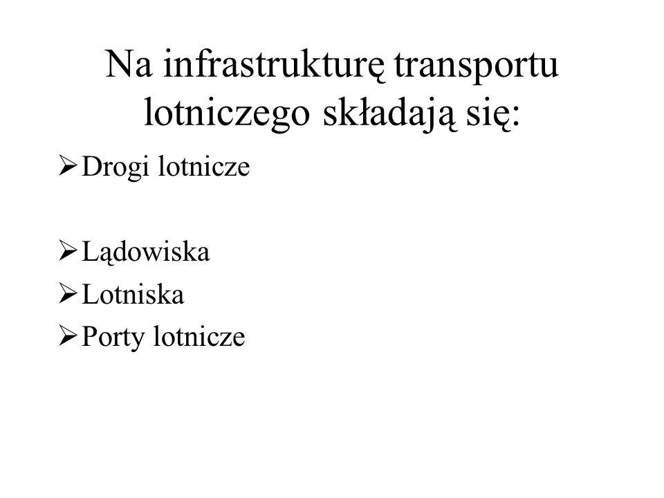 Na infrastrukturę transportu lotniczego składają się: