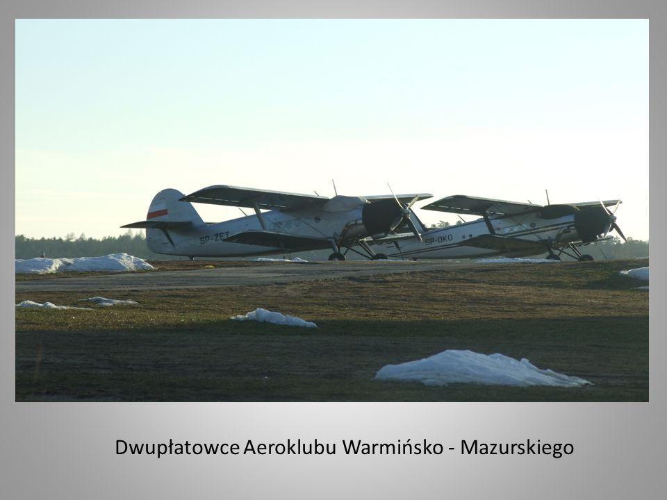 Dwupłatowce Aeroklubu Warmińsko - Mazurskiego