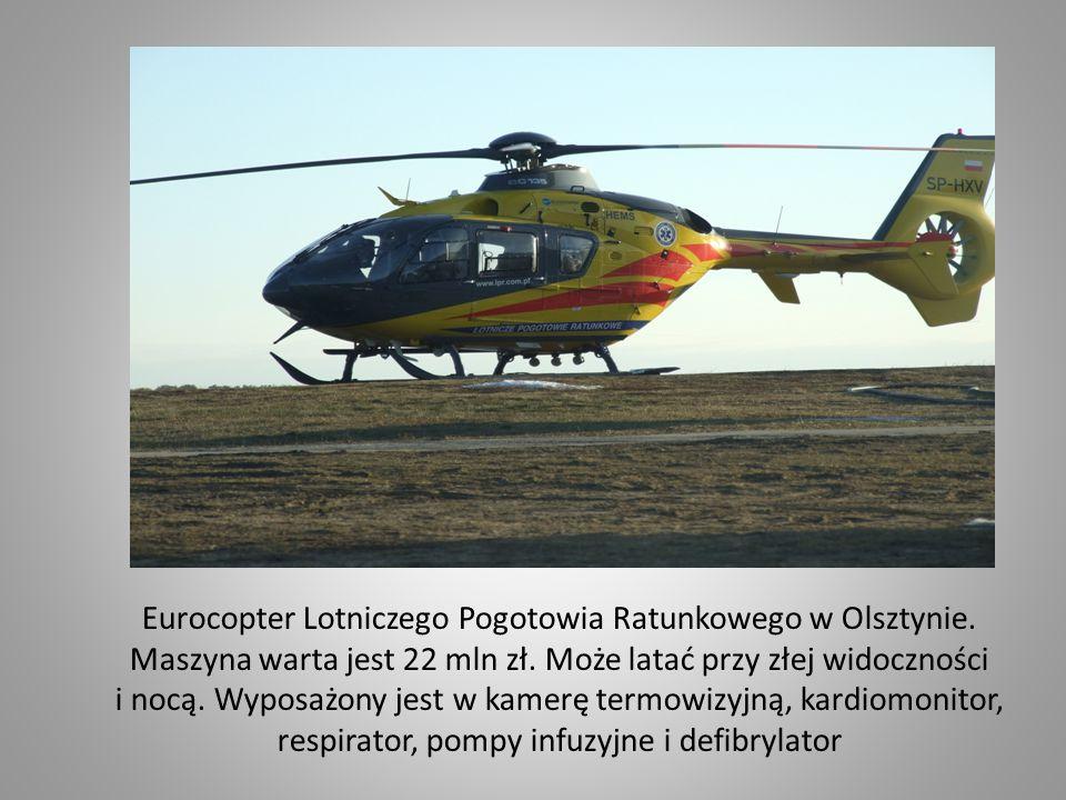 Eurocopter Lotniczego Pogotowia Ratunkowego w Olsztynie