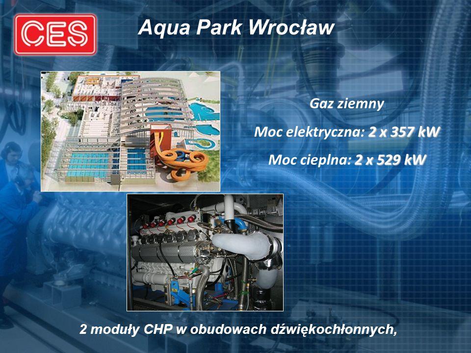 2 moduły CHP w obudowach dźwiękochłonnych,