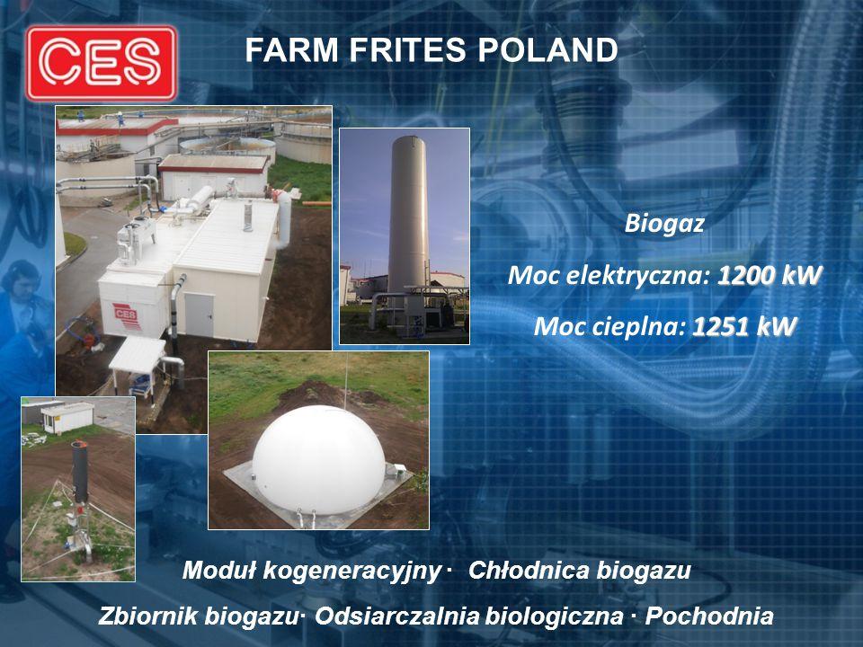 FARM FRITES POLAND Biogaz Moc elektryczna: 1200 kW
