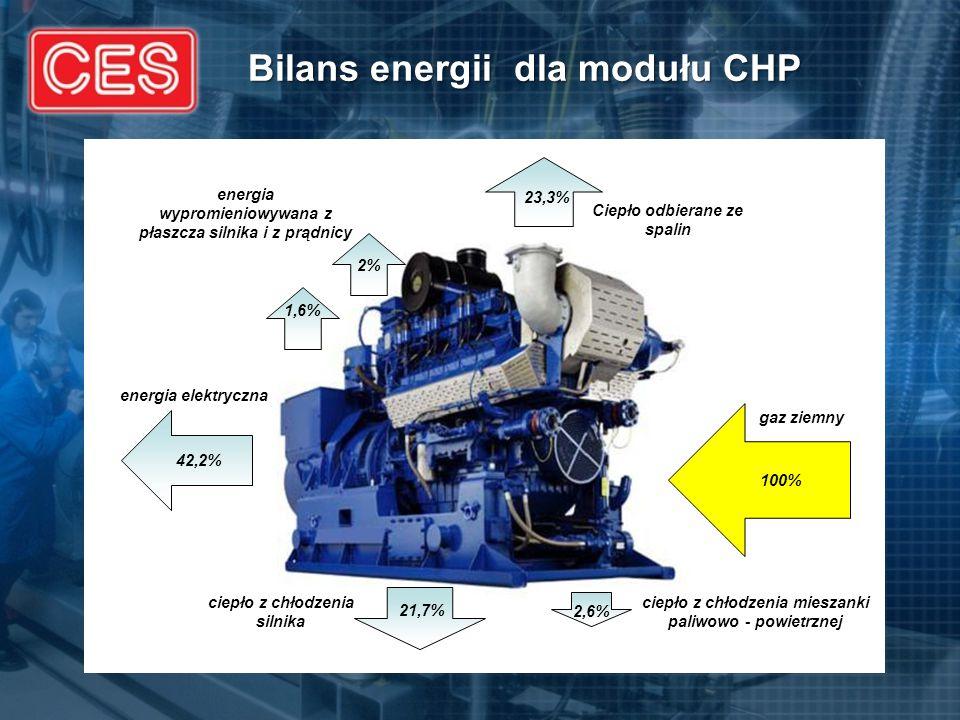 Bilans energii dla modułu CHP
