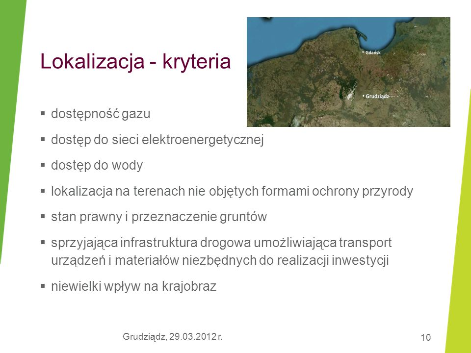 Lokalizacja - kryteria