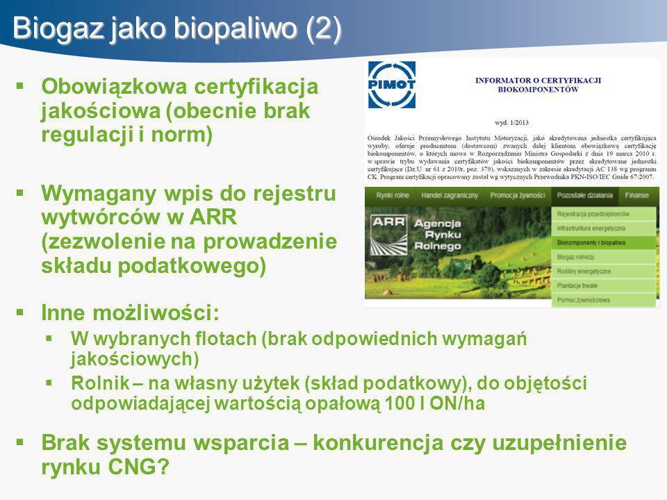 Biogaz jako biopaliwo (2)